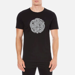 Pretty Green Men's Linear Logo T-Shirt - Black