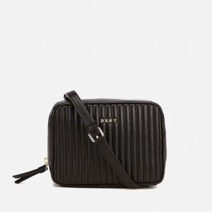 DKNY Women's Gansevoort Pinstripe Quilted Square Crossbody Bag - Black