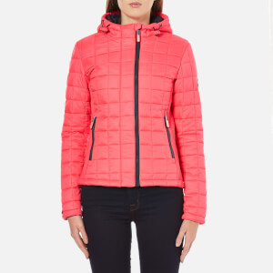 Superdry Women's Hooded Box Quilt Fuji Jacket - Flash Pink