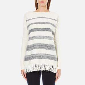 Woolrich Women's Soft Blanket Sweater - Frost White Stripe
