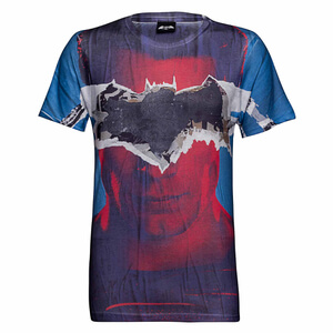 DC Comics Men's Batman Tear T-Shirt - Blau