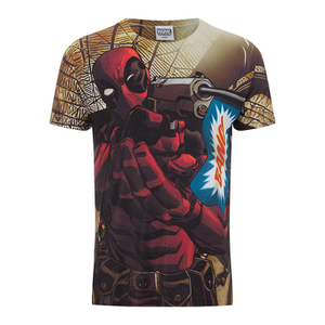 Marvel Herren Deadpool Bang T-Shirt - Weiß