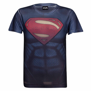 DC Comics Superman Muscle Heren T-Shirt -Blauw