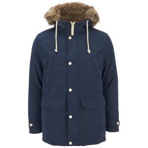 Produkt Men's Faux Fur Trimmed Parka Jacket - Navy Blazer