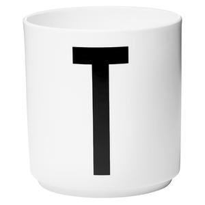 Design Letters Porcelain Cup - T