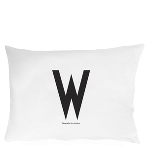 Design Letters Pillowcase - 70x50 cm - W