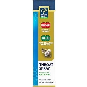 Manuka Health Propolis and MGO 400 Manuka Honey Throat Spray 20ml: Image 2