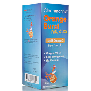 Cleanmarine Krill Oil for Kids Orange Burst Liquid Omega 3 - 150ml: Image 3