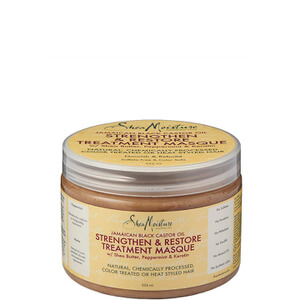 Shea Moisture Jamaican Black Castor Oil Strengthen, Grow & Restore Treatment Masque Восстанавливающая маска 326мл