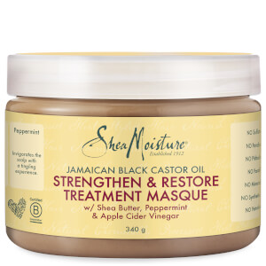 Shea Moisture Jamaican Black Castor Oil Strengthen, Grow & Restore Treatment Masque Восстанавливающая маска 340g