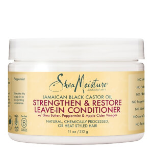 SHEA MOISTURE BLACK CASTOR OIL STRENGTHEN, GROW & RESTORE LEAVE-IN BALSAMO 454g