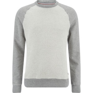 Produkt Men's Knit Raglan Crew Neck Sweatshirt - Light Grey Melange