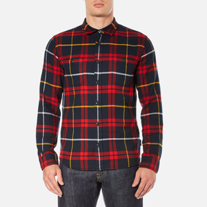 Edwin Men's Labour Shirt - Red/Black