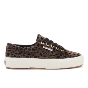 Superga Women's 2750 Leopardhorse Trainers - Black Taupe