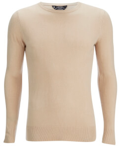 Kensington Eastside Men's Balint Crew Neck Jumper - Stone