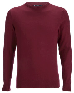 Kensington Eastside Men's Henriks Cotton Crew Neck Jumper - Oxblood