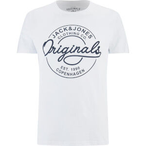Jack & Jones Herren Originals Bone T-Shirt - Weiß