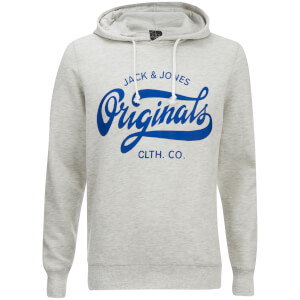 Jack & Jones Men's Originals Break Hoody - Treated White Melange