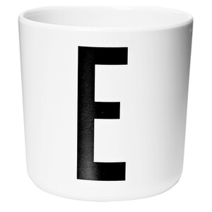 Design Letters Kids' Collection Melamin Cup - White - E