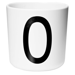 Design Letters Kids' Collection Melamin Cup - White - O