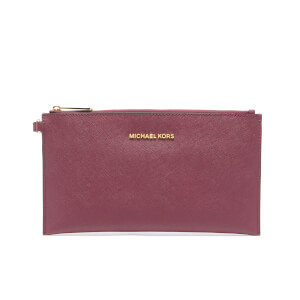 MICHAEL MICHAEL KORS Women's Jet Set Travel Large Zip Clutch Bag - Plum