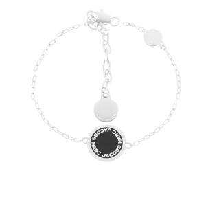 Marc Jacobs Women's Enamel Logo Bracelet - Black/Argento