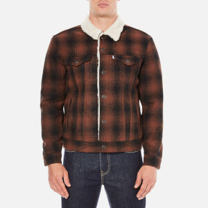 Levi's Men's Type 3 Sherpa Trucker Jacket - Mastic Burnt