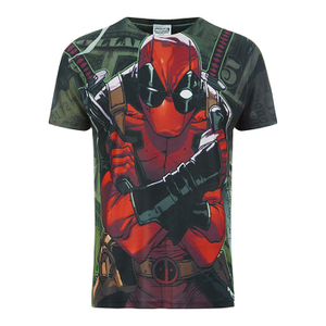 Marvel Deadpool Dollar Heren T-Shirt - Wit