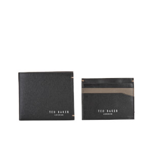 Ted Baker Men's Frank Leather Wallet and Card Holder Set - Black