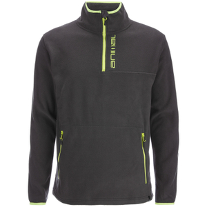 Animal Men's Prudhoes 1/2 Zip Fleece Jumper - Asphalt Grey