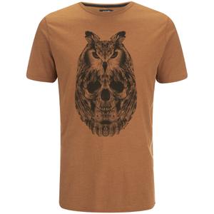 Camiseta Animal Owly - Hombre - Marrón cuero