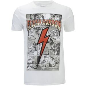 Flash Gordon Mens Comic Strip T-Shirt - Wit