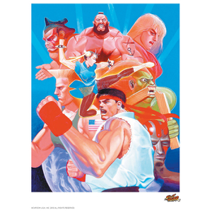 Affiche Street Fighter 'Hadouken' - Fine Art