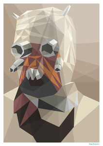 "Star Wars Tuscan Raider Inspired Geometric Art Print - 16.5"" x 11.7"""