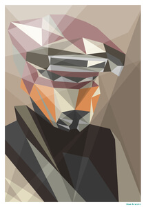 "Star Wars Scum Bounty Hunter Inspired Geometric Art Print - 16.5"" x 11.7"""