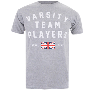 T-Shirt Homme Varsity Team Players Union - Gris
