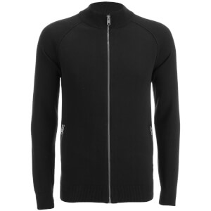 Threadbare Men's Elmer Full Zip Neck Jumper - Black