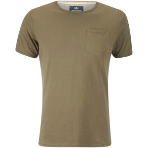 T-Shirt Homme Threadbare Jack Pocket -Kaki