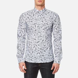 HUGO Men's Ero3 Patterned Long Sleeve Shirt - Pastel Grey
