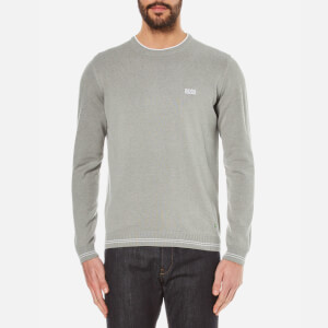 BOSS Green Men's Rime Crew Neck Knitted Jumper - Pastel Grey