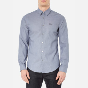 BOSS Green Men's C-Buster Long Sleeve Shirt - Open Blue