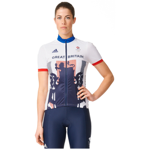 adidas Women's Team GB Replica Cycling Short Sleeve Jersey - White