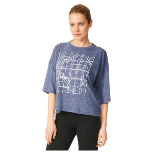 adidas Women's Over Sized Graphic Training T-Shirt - Navy