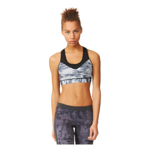 adidas Women's Techfit Print Training Bra - Black