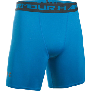 Under Armour Men's Armour HeatGear Compression Training Shorts - Brilliant Blue/Stealth Grey