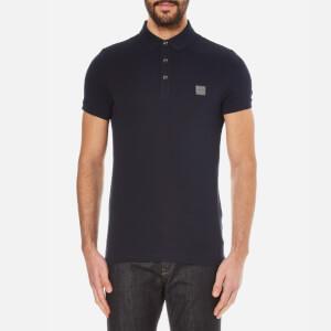 BOSS Orange Men's Pavlik Pique Polo Shirt - Dark Blue