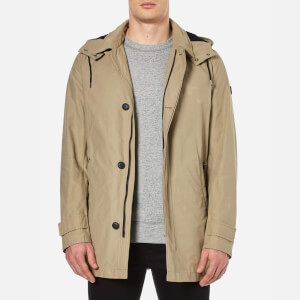 BOSS Orange Men's Otorio Hooded Coat - Medium Beige