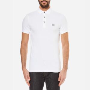 BOSS Orange Men's Pavlik Pique Polo Shirt - White