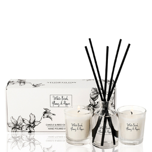 Stoneglow White Birch, Ylang and Pepper Candle and Reed Gift Set
