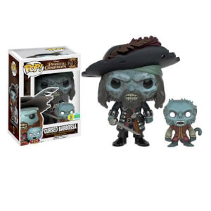 Disney Pirates Of The Caribbean Cursed Barbossa Pop! Vinyl Figure SDCC 2016 Exclusive